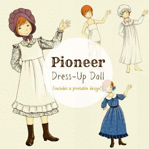 Pioneer Girl Printable Dress-Up Doll Facebook