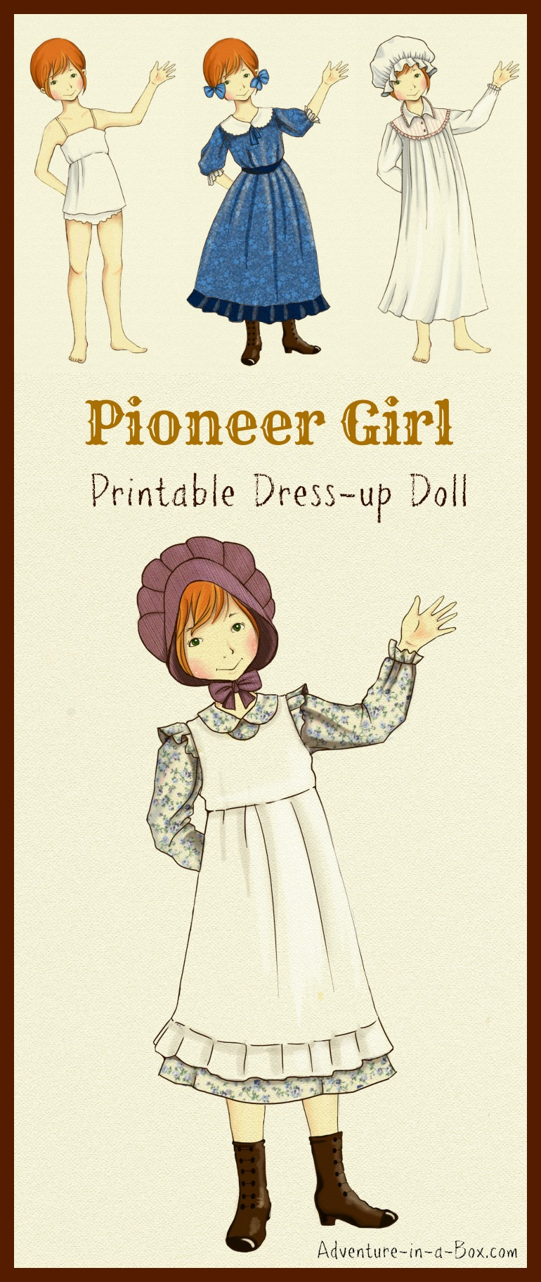 photograph relating to House From Up Printable titled Pioneer Costume-up Doll Motivated via Small Dwelling upon the Prairie