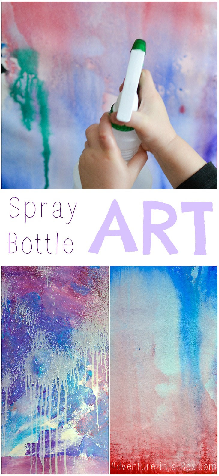 art with household materials is fun especially for kids put a spray. Black Bedroom Furniture Sets. Home Design Ideas