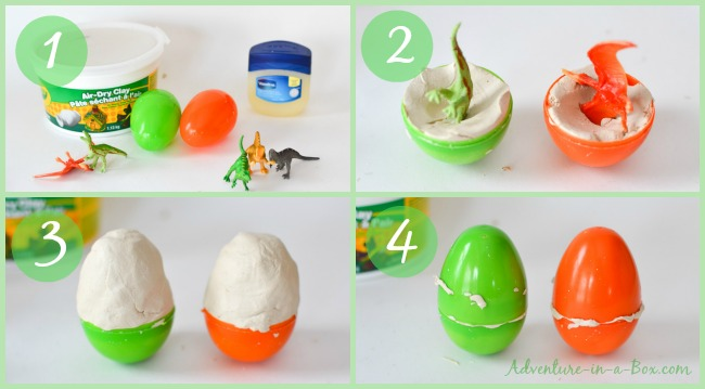 Dinosaur Egg Hunt & Hatch: Do you want to go on a dinosaur egg hunt? Make a bunch of DIY dinosaur eggs with kids and hide them outside. But wait, the fun just begins: they're hatching!