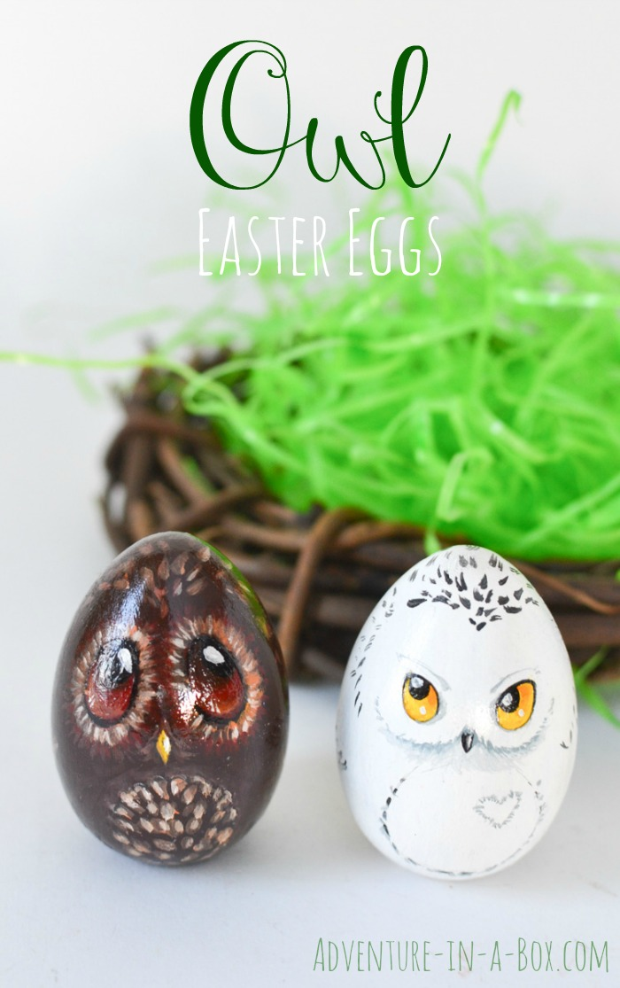 Turn your Easter eggs into a bunch of cute owls and give them as gifts this year! A good Easter craft for children and adults to enjoy together.