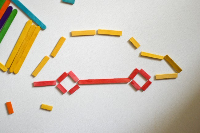 Craft Stick Art for Kids: Make a Car