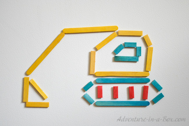Craft Stick Art for Kids: Make a Buldozer!