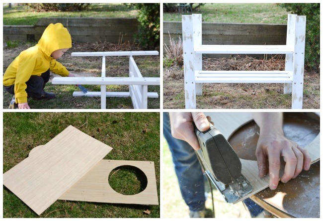 DIY Outdoor Play Kitchen From An Old Shelf: Itu0027s A Very Simple DIY Project  That