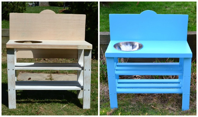 Diy Outdoor Play Kitchen From An Old Shelf It S A Very Simple Project That