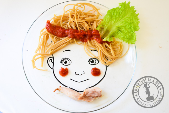 Face Plate: Use them as prompts to introduce food art to kids. So easy ...