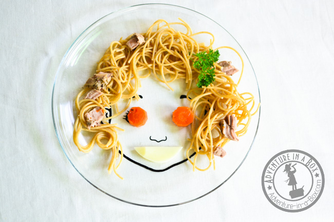 Food Face Plate: Use them as prompts to introduce food art to kids. So easy to create beautiful and nutritious meals with these fun and cheap DIY plates!