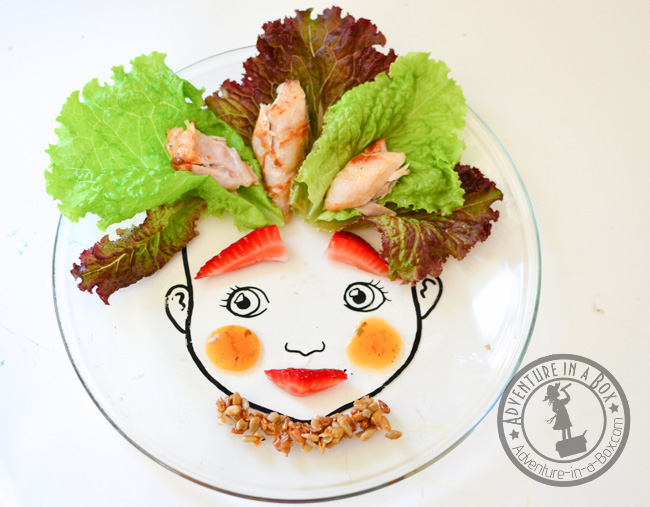 Food Face Plate: Use them as prompts to introduce food art to kids. So easy to create beautiful and nutritious meals with thess fun and cheap DIY plates!