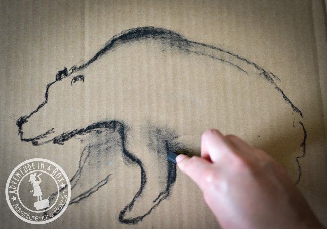 Cave Art for Kids: Build a cardboard cave, then decorate its walls! A great craft for studying cave art and prehistoric times with kids.