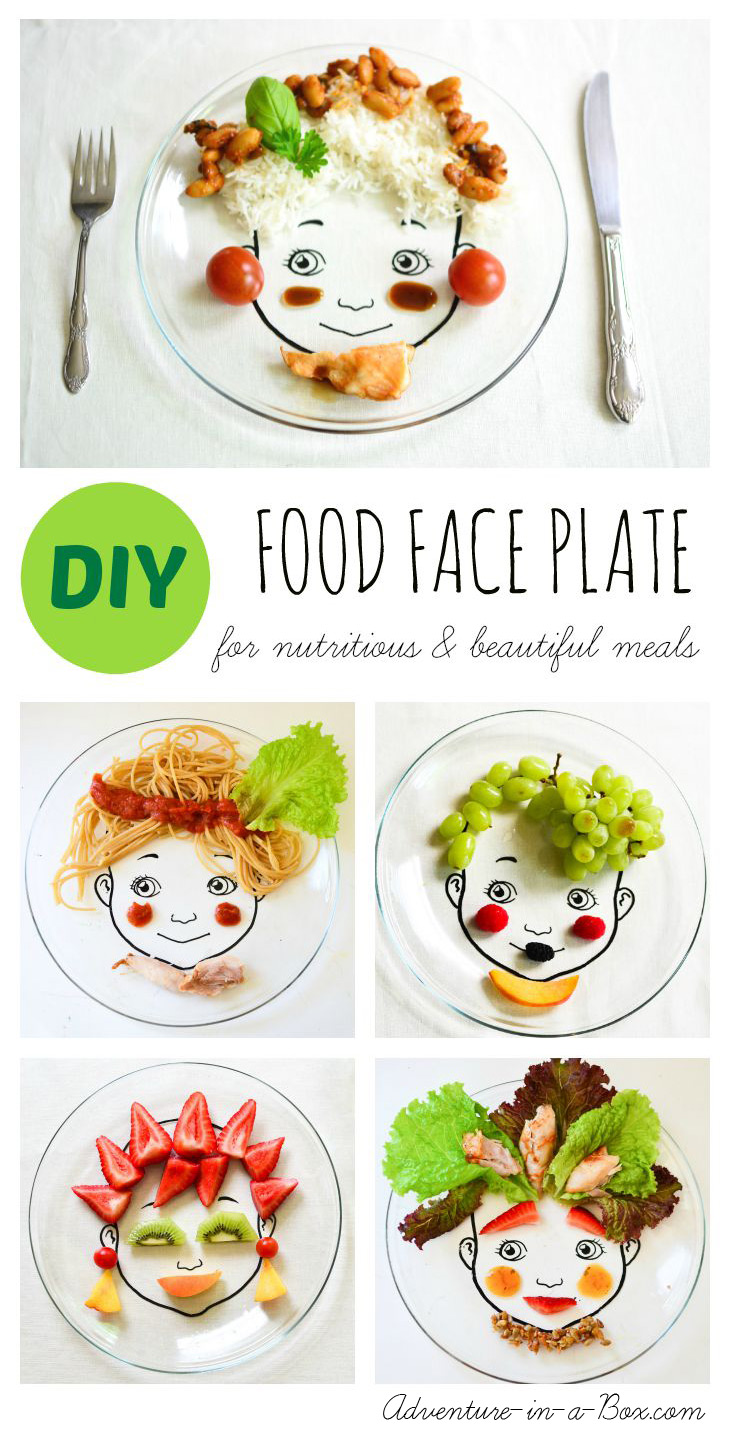 diy food face plate for nutritious beautiful meals adventure in a box. Black Bedroom Furniture Sets. Home Design Ideas