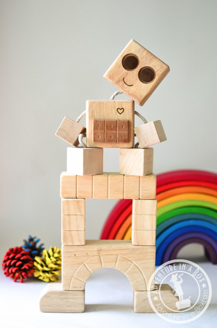 Diy wooden robot buddy easy project for kids for Easy diy toys
