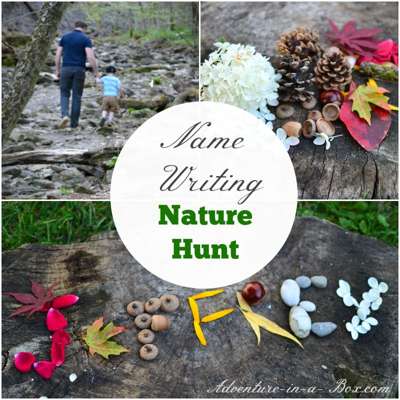 Name Writing Nature Hunt Adventure In A Box