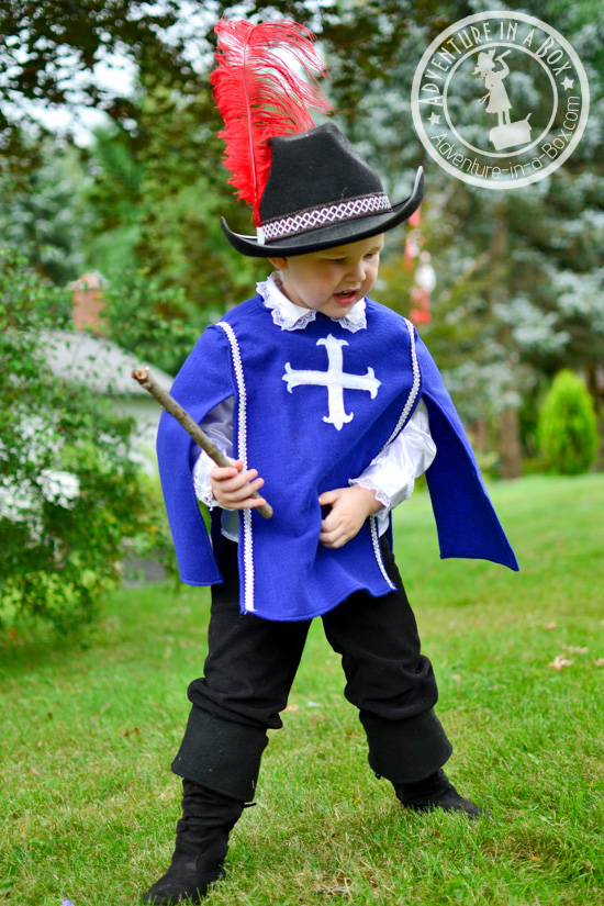 DIY tutorial on how to make a musketeer costume for a kid. Great for a book-themed party or Halloween!