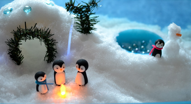 Penguin World: Build a Winter Sensory Bin