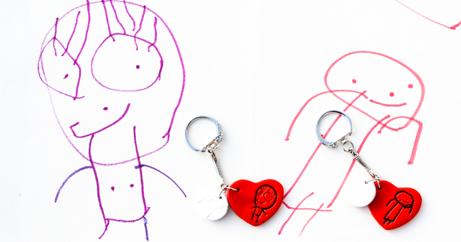 DIY Kid-Designed Keychains