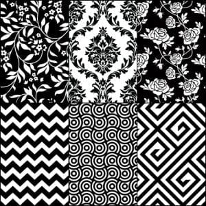 Black and white pattern pictures