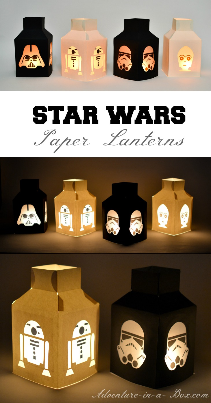 star wars paper lanterns adventure in a box. Black Bedroom Furniture Sets. Home Design Ideas