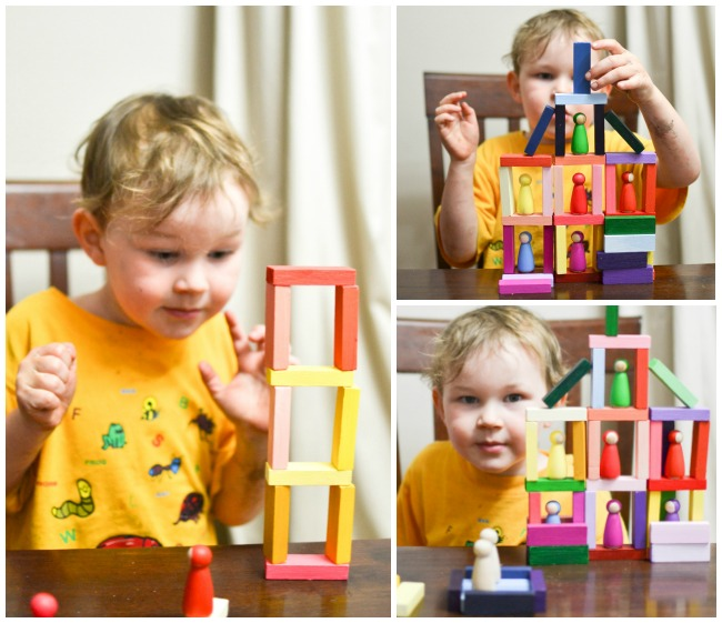 Building houses with gradient blocks.
