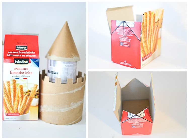 DIY Make a Cardboard Castle from Recyclables: Gatehouse.