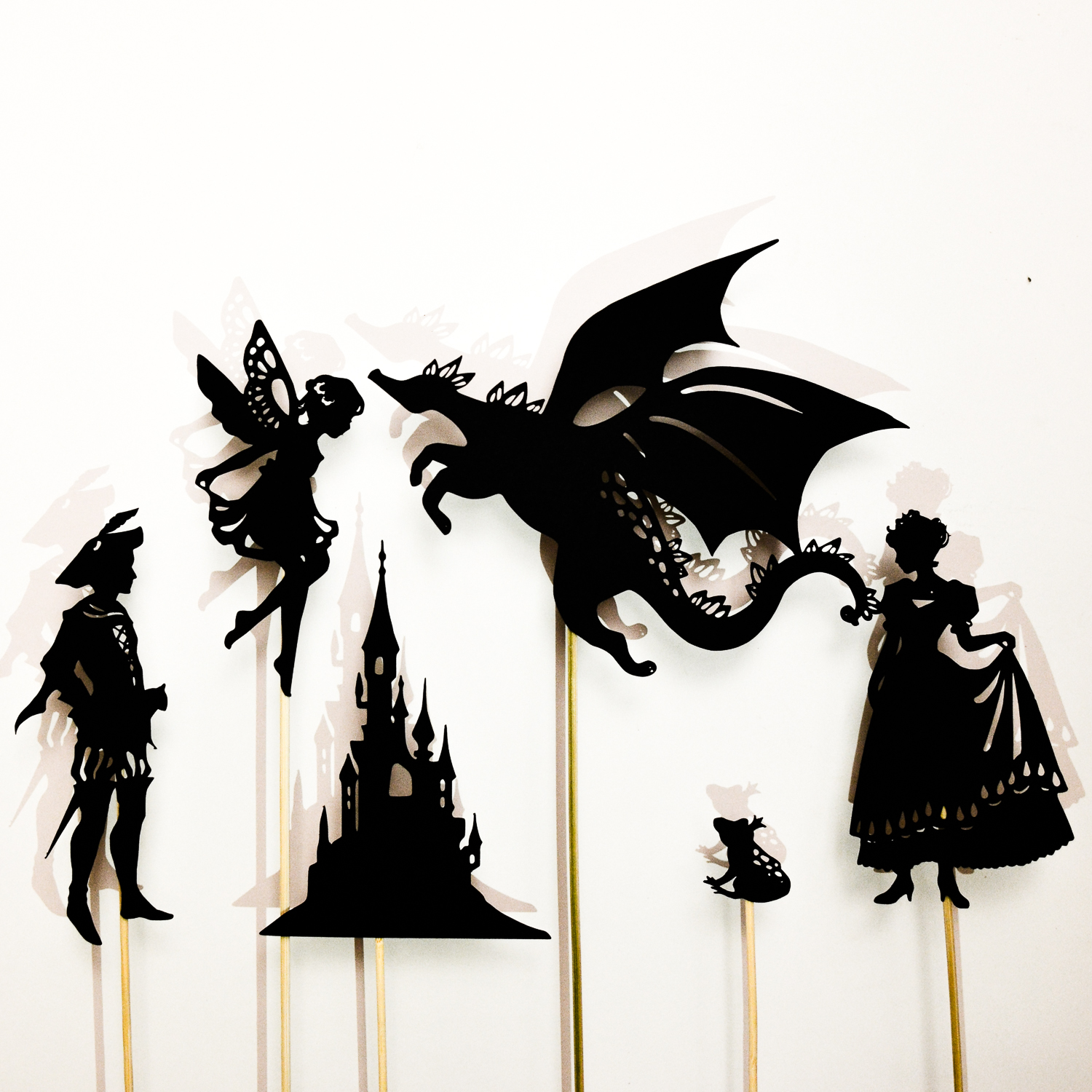 Printable Home Decor Make A Fairy Tale Shadow Puppet Set