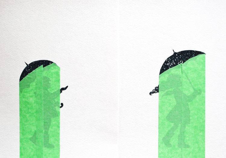 Painting Rain with a Printable Art Prompt: Mask the silhouettes.