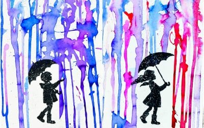 Painting Rain with Printable Art Prompt