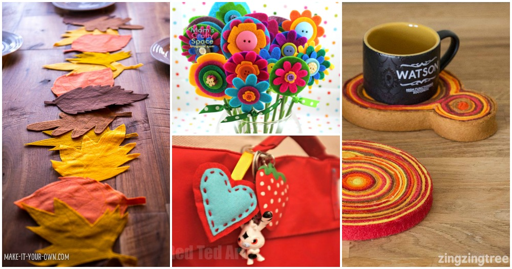 25 Felt Projects for Moms & Kids to Enjoy Together