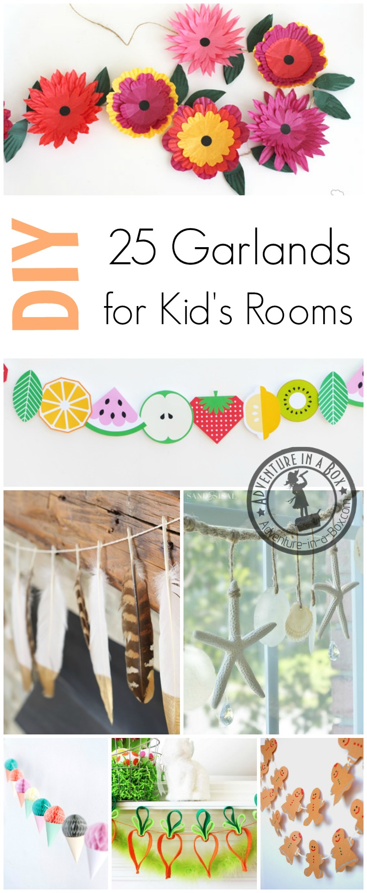 DIY Seasonal Garlands to Decorate Kid's Rooms: Beautiful handmade garlands to celebrate winter, spring, summer and autumn!