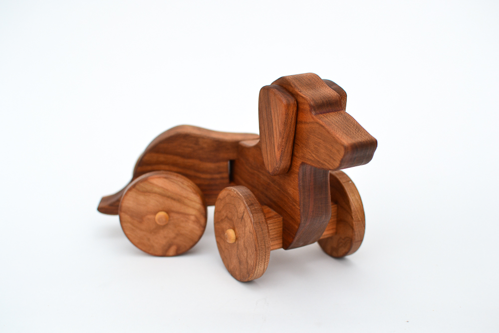 Home / Shop / Wooden Toys / Wooden Dachshund on Wheels: Pull Toy Dog ...