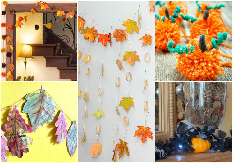 DIY Autumn Garlands to Decorate Kid's Rooms