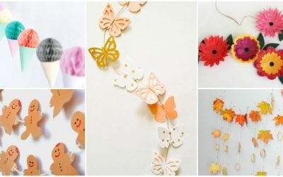 DIY Seasonal Garlands for Kids' Rooms