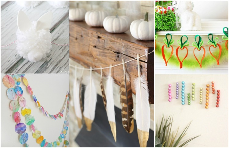 DIY Spring Garlands to Decorate Kid's Rooms