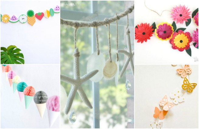DIY Summer Garlands to Decorate Kid's Rooms