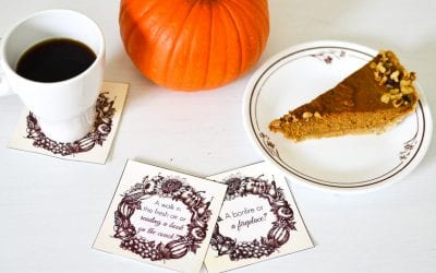 Thanksgiving Conversation Starter Coasters for Kids