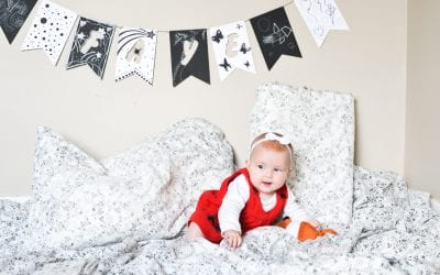 Black and White Baby Name Garland