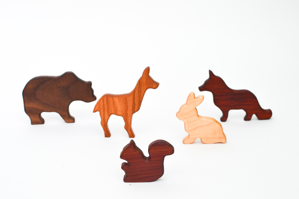 Wooden Forest Animals Set 5 Toys Adventure In A Box