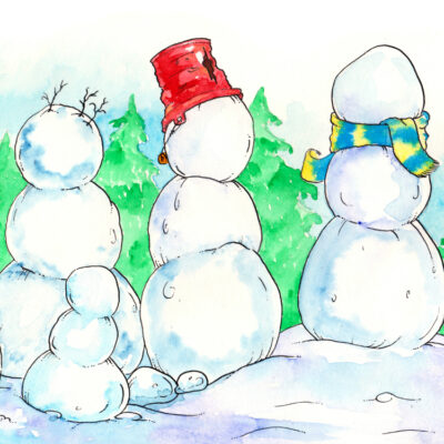 Free Printable Art Prompt for Kids: Snowmen