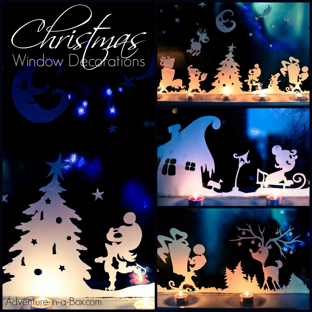 Christmas window decorations adventure in a box for 30 lighted nativity christmas window silhouette decoration