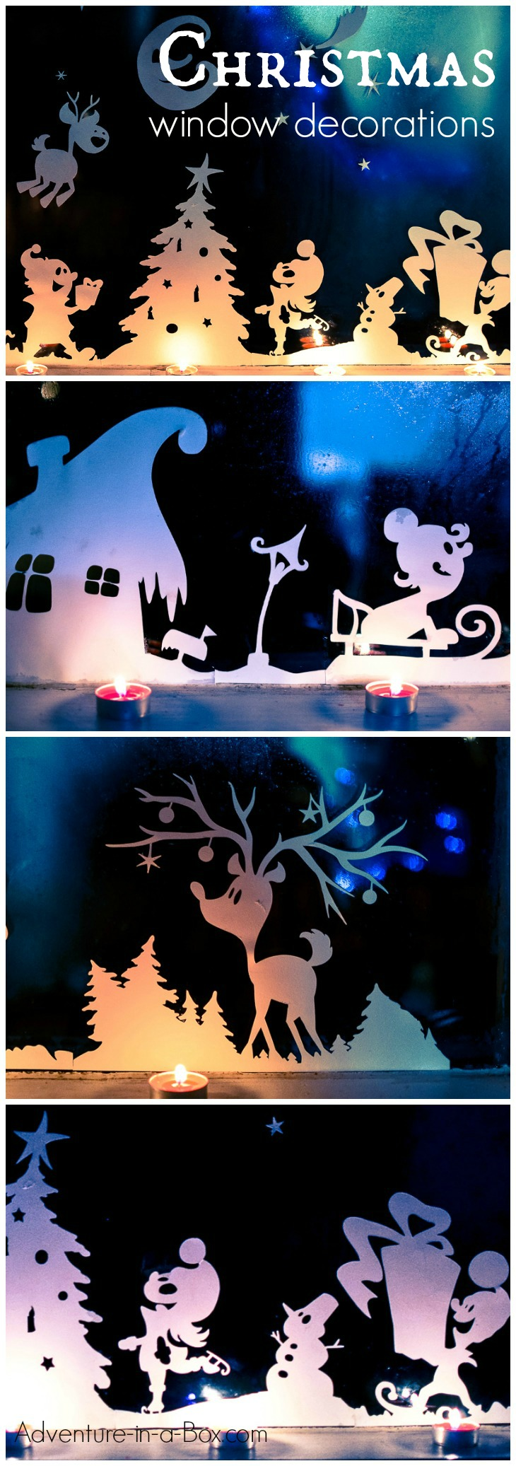 Christmas window decorations - Diy Printable Christmas Window Decorations Cut Print And Decorate Your Windows With Silhouettes Of