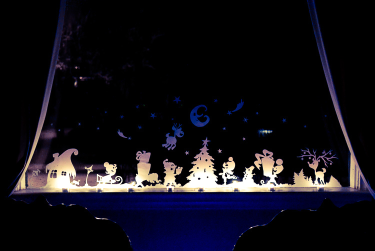 Christmas window decorations adventure in a box for 17 clear lighted star christmas window silhouette decoration
