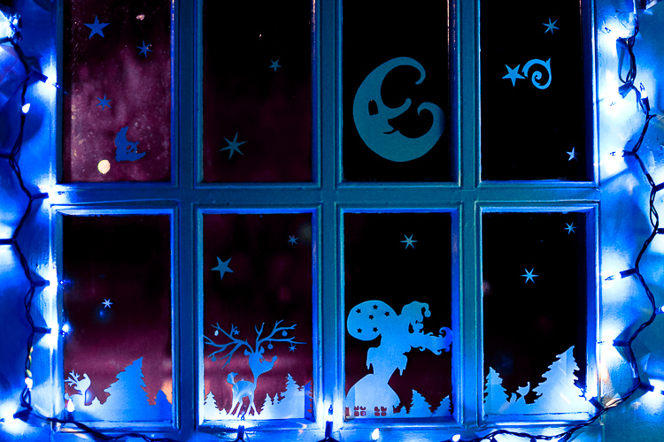 printable christmas window decorations cut print and decorate your windows with silhouettes of a - Christmas Window Decorations