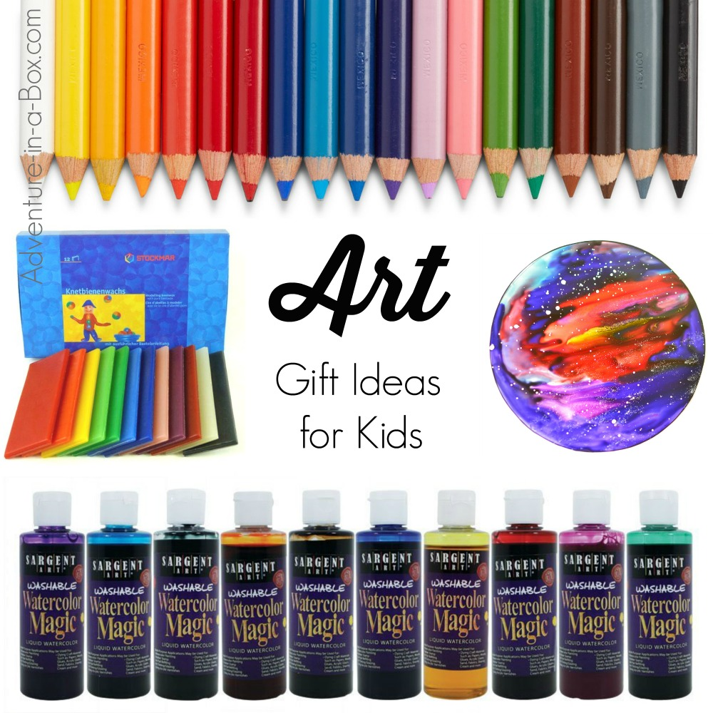 Over 15 unique gift ideas for kids who like drawing, painting, sculpting and making art. Also includes ideas for art projects you can do with the art supplies listed.