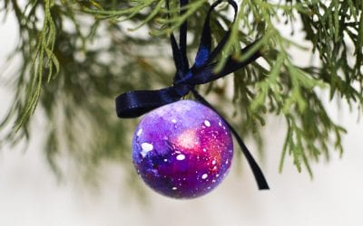 DIY Space Christmas Ornaments