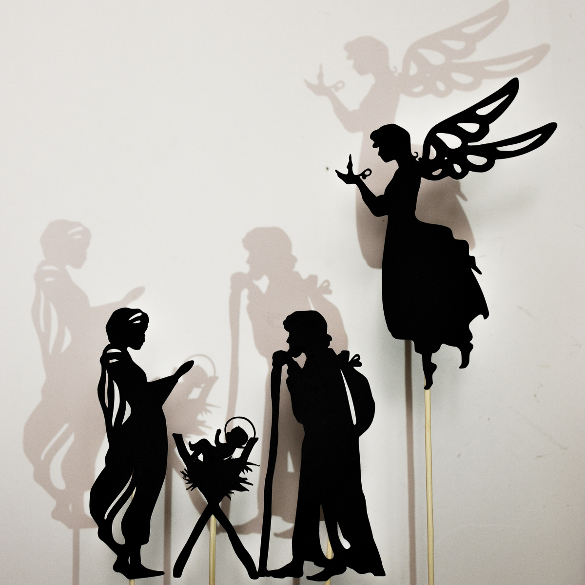 Christmas Nativity Scene Shadow Puppet Printables - Adventure in a Box