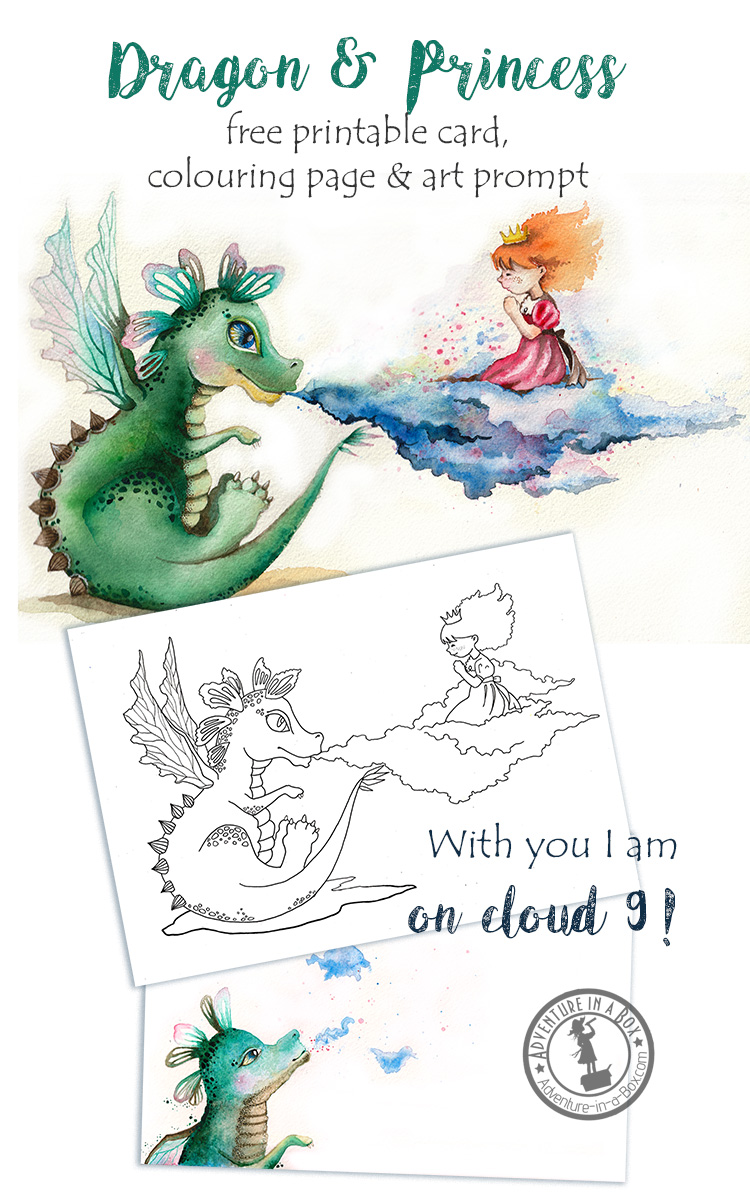 Dragon amp Princess Free Printable