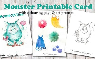 Friendly Monster: Free Printable Card, Colouring Page & Drawing Prompt