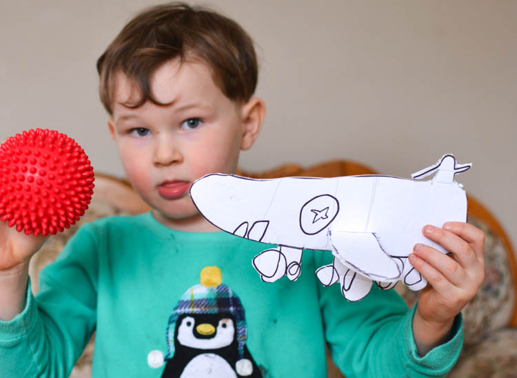DIY Foam Glider Airplane with a Free Printable Pattern: My son made his own design!