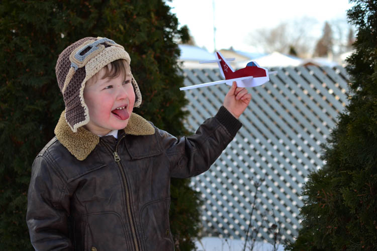 DIY Foam Glider Airplane with a Free Printable Pattern: Testing it.