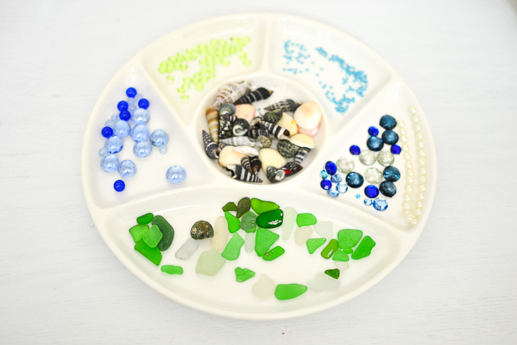 How to make dragon eggs from air-dry clay. Beads, jewels and seashells.