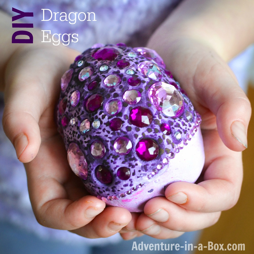How To Make Dragon Eggs From Airdry Clay Beautiful Fantasy Craft For Kids